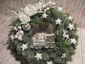 Dekorácie - Vianočný veniec - 10226951_