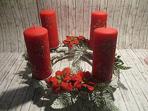 Dekorácie - Adventný svietnik - 10227007_