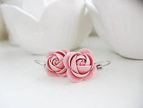 Náušnice - Old Rose, visací náušnice - 10227457_