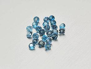 Minerály - Topás london modrý prírodný okrúhly 3 mm - 10223532_