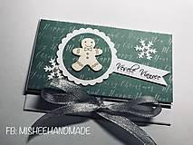 Papiernictvo - Vianočná obálka na peniaze - rôzne druhy - 10227180_