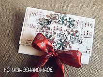 Papiernictvo - Vianočná obálka na peniaze - rôzne druhy - 10227183_