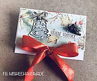 Papiernictvo - Vianočná obálka na peniaze - rôzne druhy - 10227186_
