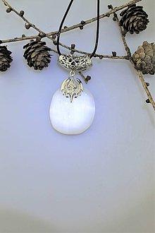 Náhrdelníky - Selenit prívesok - elfské šperky - 10223968_
