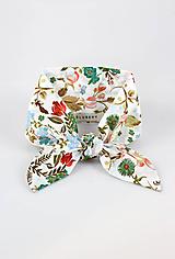 Šatky - Pôvabná dámska kvetinová šatka okolo krku