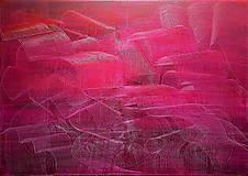 Love vibration - Veľký červený abstraktný obraz