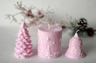 Svietidlá a sviečky - Sada vianočných sviec * s vôňou * (Ružová) - 10226056_
