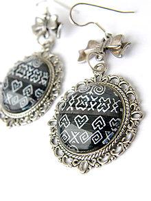 Náušnice - cicmany ornament nausnicky - 10226867_
