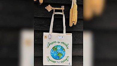 Iné tašky - ♥ Plátená, ručne maľovaná taška ♥ - 10225831_