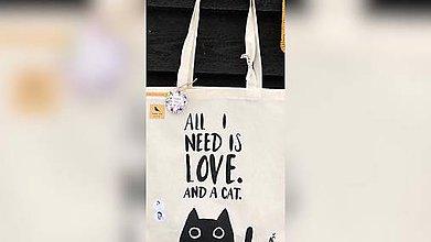 Iné tašky - ♥ Plátená, ručne maľovaná taška ♥ - 10225904_