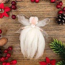 Dekorácie - Vianočná plstená víla Veronika - 10227049_