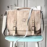 Veľké tašky - Kožená retro brašňa - 10223671_