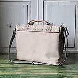 Veľké tašky - Kožená retro brašňa - 10223675_