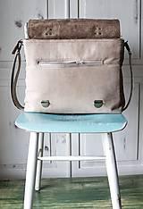 Veľké tašky - Kožená retro brašňa - 10223680_