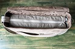 Veľké tašky - Kožená retro brašňa - 10223682_
