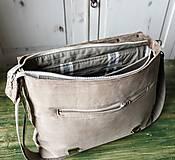Veľké tašky - Kožená retro brašňa - 10223685_