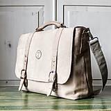 Veľké tašky - Kožená retro brašňa - 10223702_