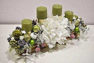 Svietidlá a sviečky - Adventný svietnik: Vianočná fantázia 30423 - 10223712_