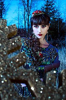 Ozdoby do vlasov - Vianočná kvetinová gumička do vlasov - 10227334_