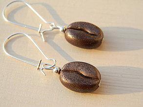Náušnice - Coffee beans - 10223503_