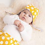Detské oblečenie - Zateplené tepláky z bio bavlny GOTS - horčicové - 10226890_