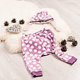 Detské oblečenie - Zateplené tepláky z bio bavlny GOTS - vintage ružové - 10226917_