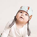 Detské čiapky - Obojstranná čiapka z bio bavlny GOTS - jeleň - 10226979_