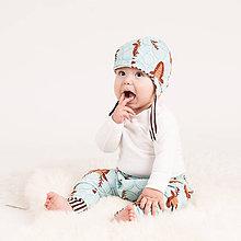 Detské oblečenie - Tepláky z bio bavlny GOTS - jeleň - 10226845_