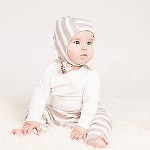 Detské oblečenie - Zateplené tepláky z bio bavlny GOTS - sivé - 10226937_