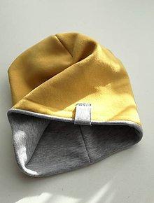 Čiapky - Teplá obojstranná čiapka - 10226749_