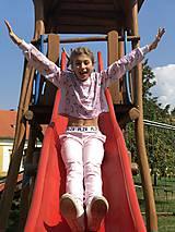 Nohavice - Detské teplákové nohavice ružové - 10226326_