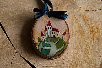 Dekorácie - Drevené mini maľované dekorácie - 10224860_