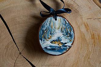 Dekorácie - Drevené mini maľované dekorácie - 10224867_
