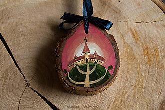 Dekorácie - Drevené mini maľované dekorácie (Kaštieľ II.) - 10224868_