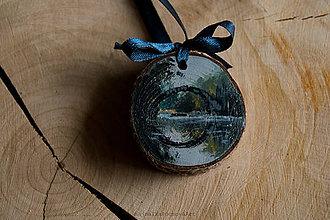 Dekorácie - Drevené mini maľované dekorácie (Kamenný most) - 10224903_
