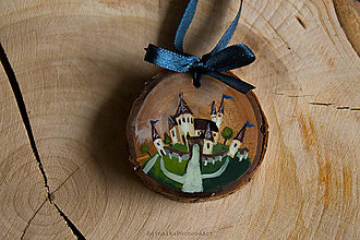 Dekorácie - Drevené mini maľované dekorácie (Kaštieľ III.) - 10224905_