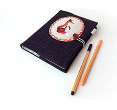 Papiernictvo - Zápisník Líška na čiernej - A5 - 10223586_