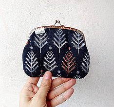 Peňaženky - Peňaženka XL Modrý les - 10224542_