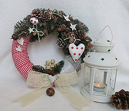 Dekorácie - vianocny veniec - 10225942_