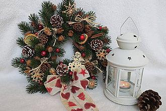 Dekorácie - vianocny veniec - 10225953_