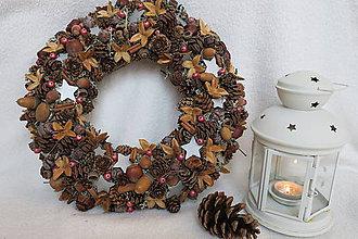 Dekorácie - vianočný veniec - 10226151_
