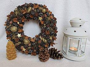Dekorácie - vianocny veniec - 10226169_