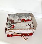 Krabičky - darčeková krabička zimná rozprávka 2 - 10226901_