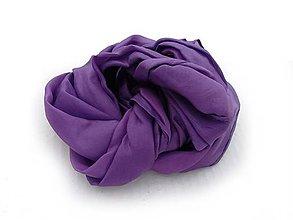 Šály - fialový hodvábny šál skladom - 10226189_