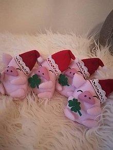 Dekorácie - Vianočné prasiatka - 10224924_