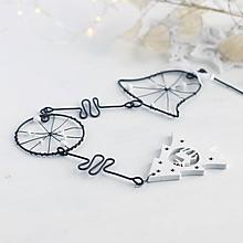 Dekorácie - vianočná dekorácia so stromčekom - 10227710_