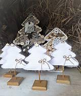 Dekorácie - Vianočný stromček s podstavčekom - 10230480_
