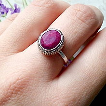 Prstene - Filigree Oval Ruby Ring / Vintage prsteň s rubínom - 10230774_