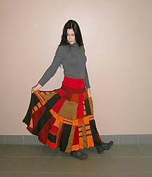 Sukne - Retro carmen maxi flamengo sukňa - 10230598_