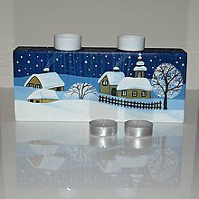 Svietidlá a sviečky - Svícen Za dlouhých zimních večerů - 10230685_